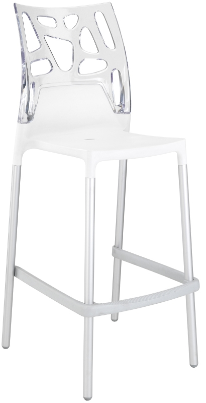 tabouret de bar avec dossier design transparent nomm bio. Black Bedroom Furniture Sets. Home Design Ideas